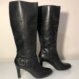 Enzo Angiolini black leather boots women's 6.5